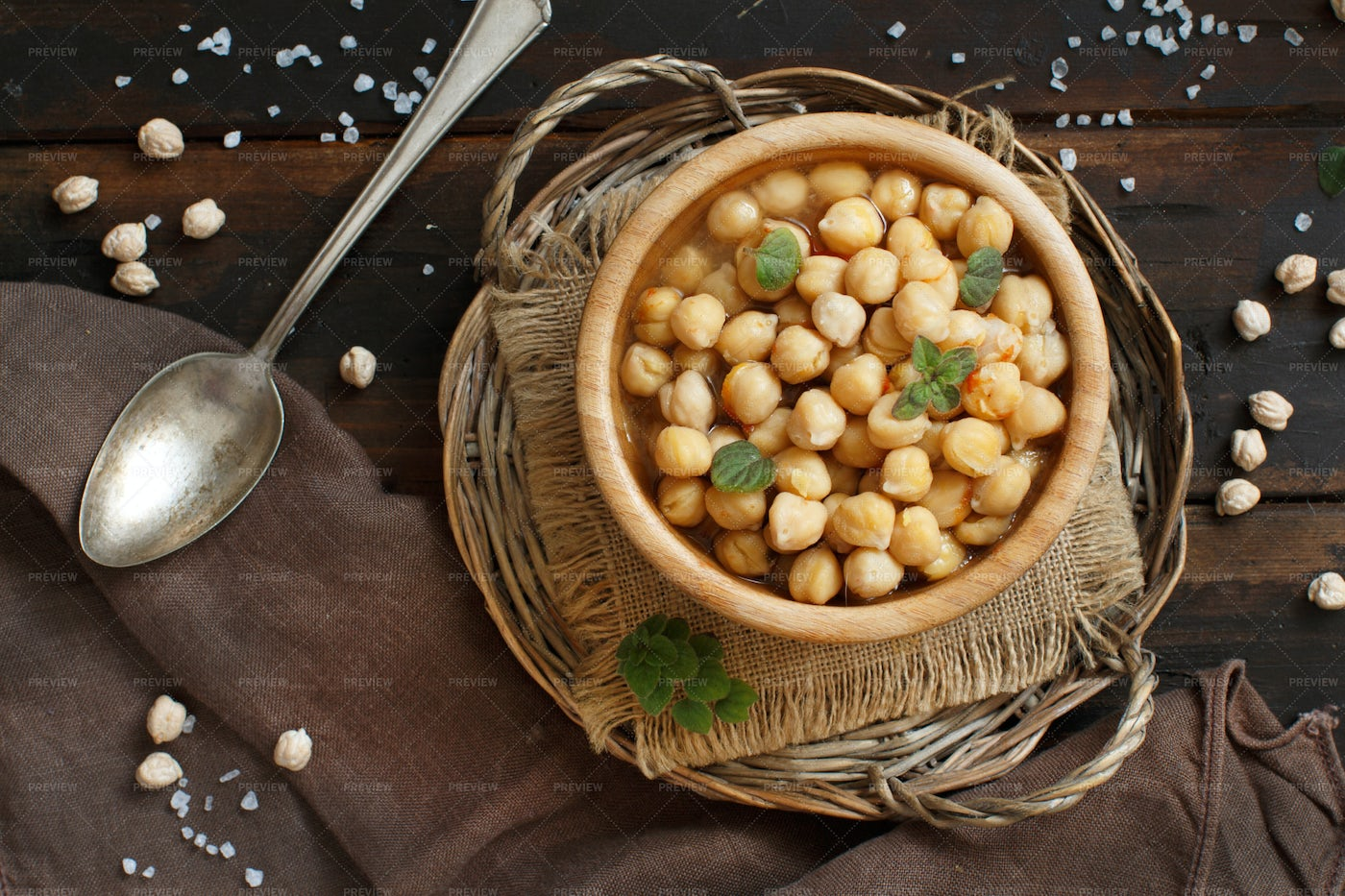 Chickpea Stew With Vegetables: Stock Photos