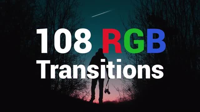 108 RGB Transitions: Premiere Pro Templates