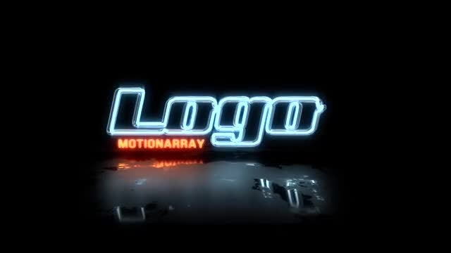 Neon Glitch Logo3: After Effects Templates