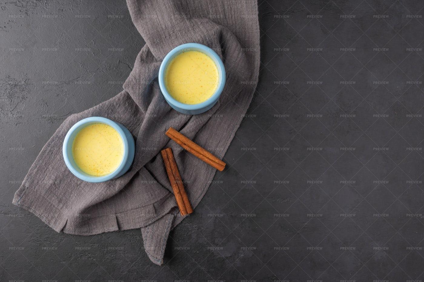 Blue Cups With Tea: Stock Photos