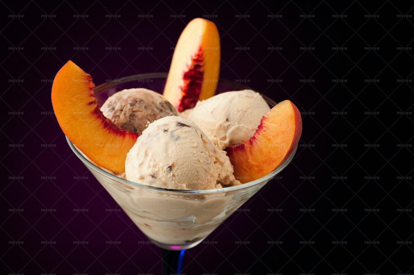 Ice Cream In A Vase: Stock Photos