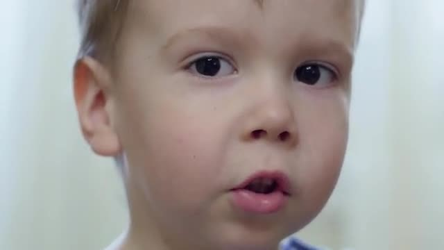 Close-up Of Little Boy: Stock Video