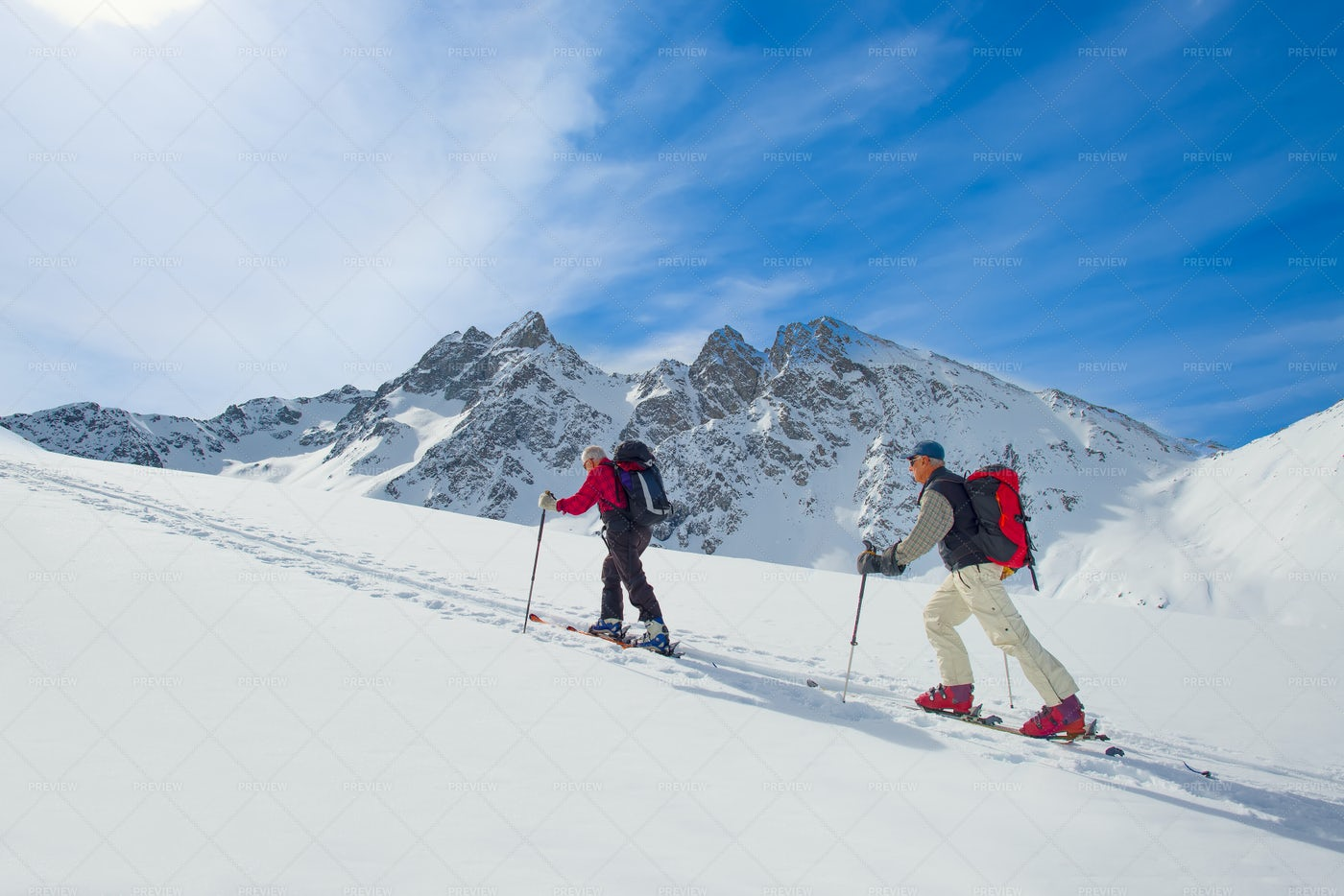 Two Ski Mountaineers: Stock Photos