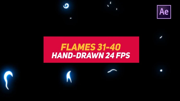 Liquid Elements 2 Flames 31-40: After Effects Templates