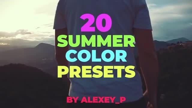 Summer Color Presets: Premiere Pro Presets