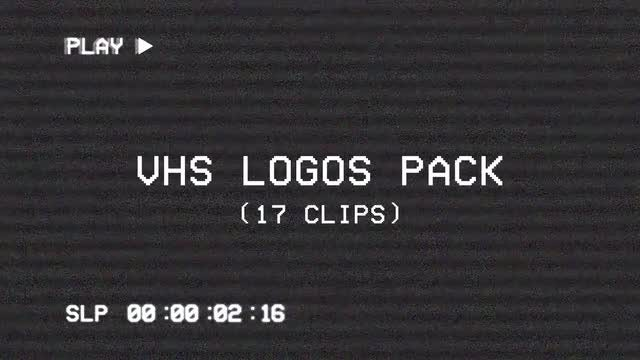 VHS Logos Pack: Stock Motion Graphics