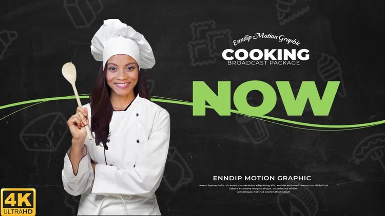 Cooking Show Broadcast 4K: After Effects Templates