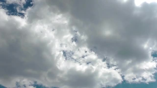 Cumulus Puffy Rain Clouds Time Lapse: Stock Video