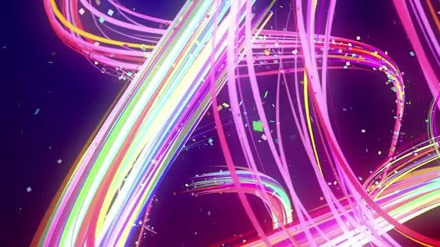 Magical Light Streaks: Stock Motion Graphics