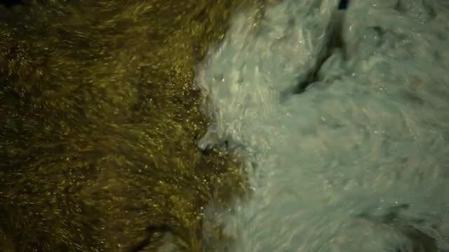 Metallic Paint In Water: Stock Video