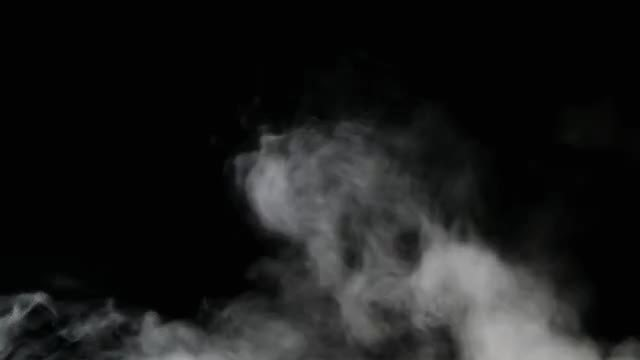 White Vapor Smoke Floating : Stock Video