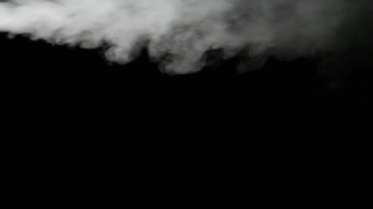 White Smoke On Black Background - Stock Video | Motion Array