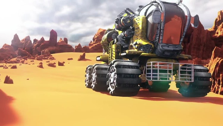 Mars Rover On The Mars: Stock Motion Graphics