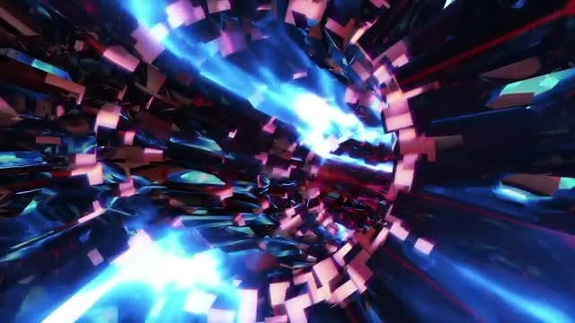 Metallic Rocks VJ Tunnel: Stock Motion Graphics