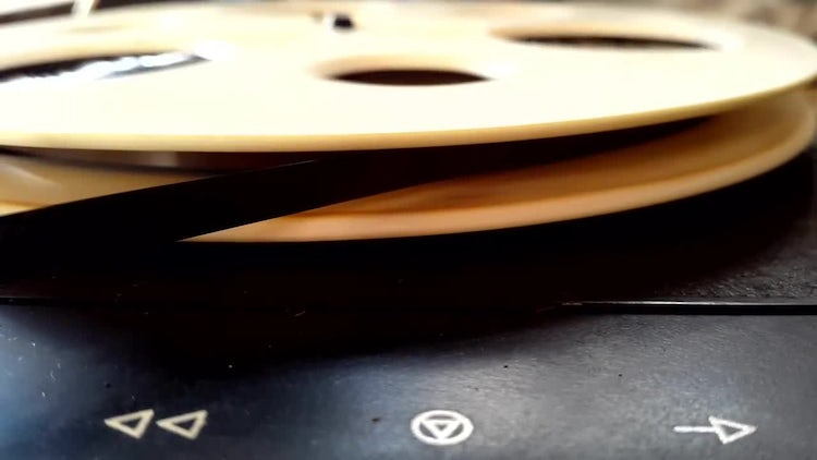 Yellow Magnetic Reel Tape Recorder: Stock Video