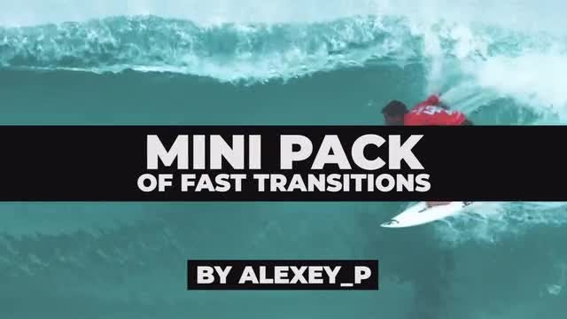 Mini Pack Of Fast Transitions: Premiere Pro Templates