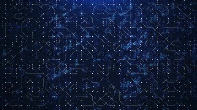 Abstract Blue World Circuit: Stock Motion Graphics