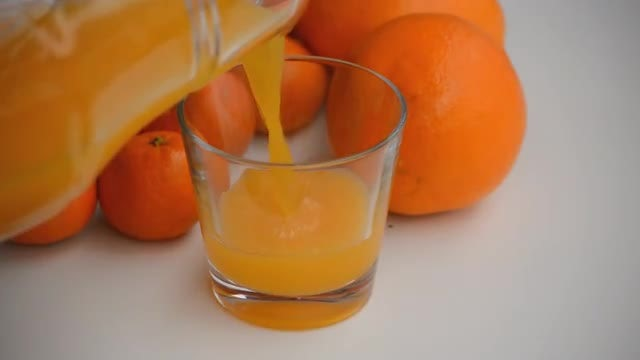 Pouring Orange Juice: Stock Video