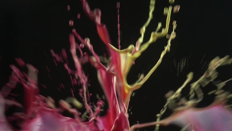 Colored Paint Mixture Splashing : Stock Video