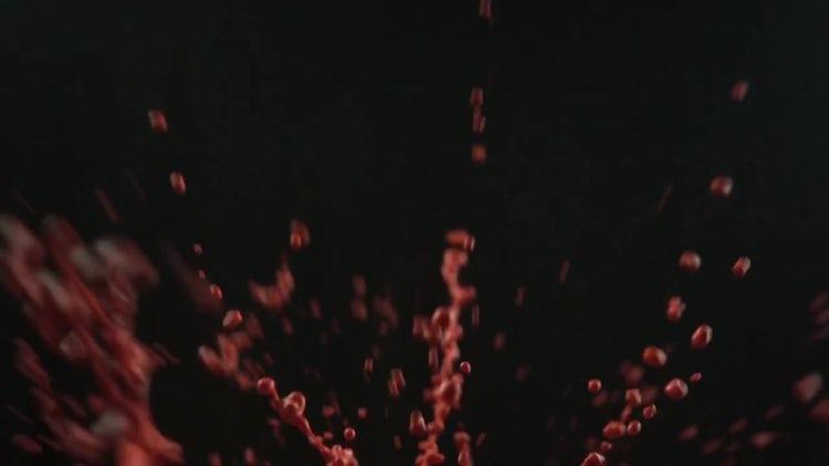 Splash Of Red Liquid: Stock Video