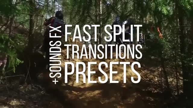 Fast Split Transitions Presets: Premiere Pro Presets