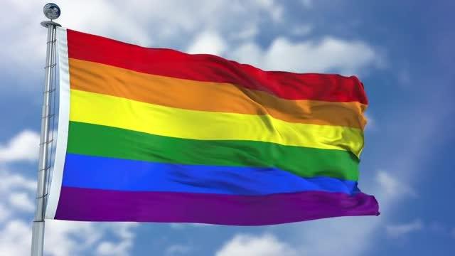 Rainbow LGBT Flag: Stock Motion Graphics