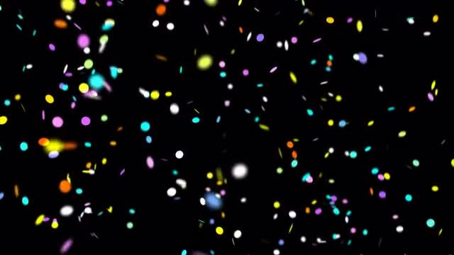 Colorful Confetti Falling: Stock Motion Graphics