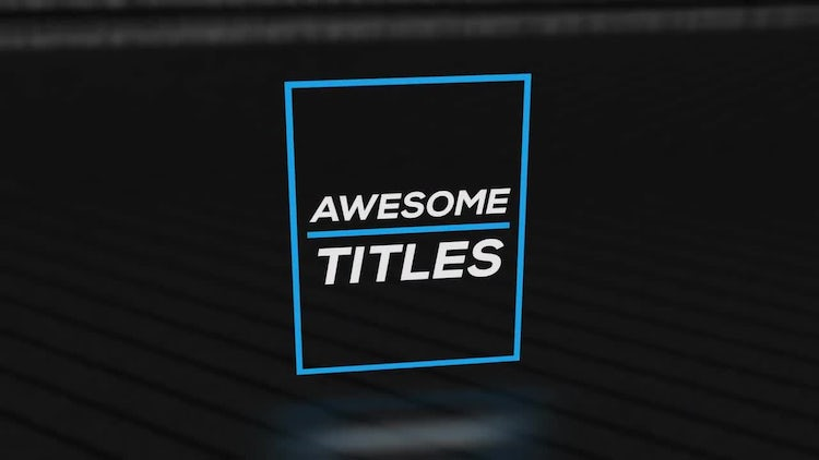 3D Simple Titles Pack: After Effects Templates