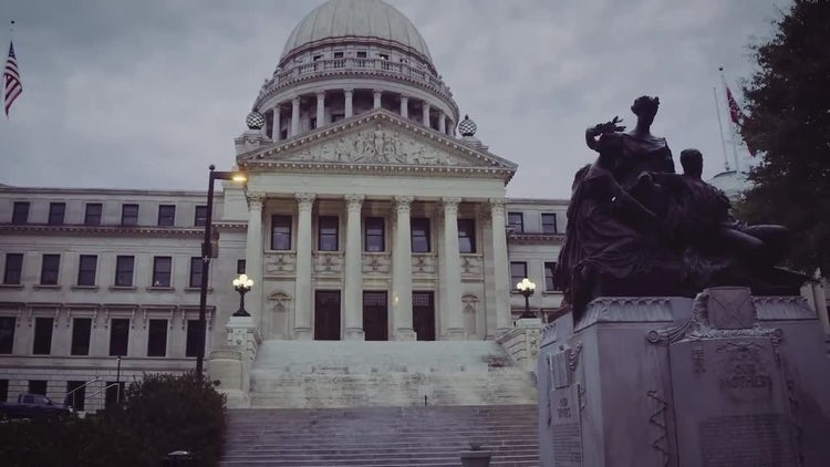 Mississippi State Capitol Building : Stock Video