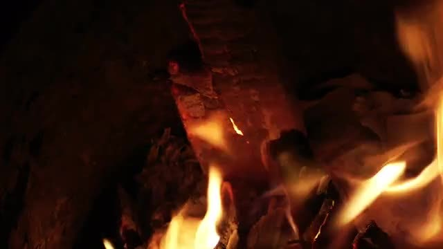 Wood Burning In An Old Stove: Stock Video