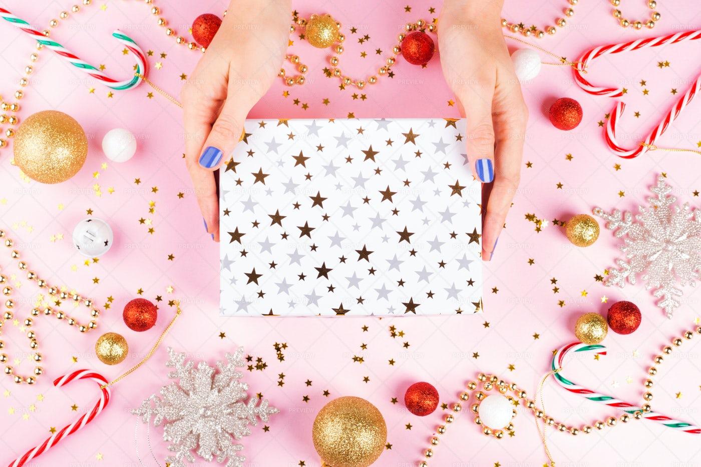 Christmas Ornament And Present: Stock Photos
