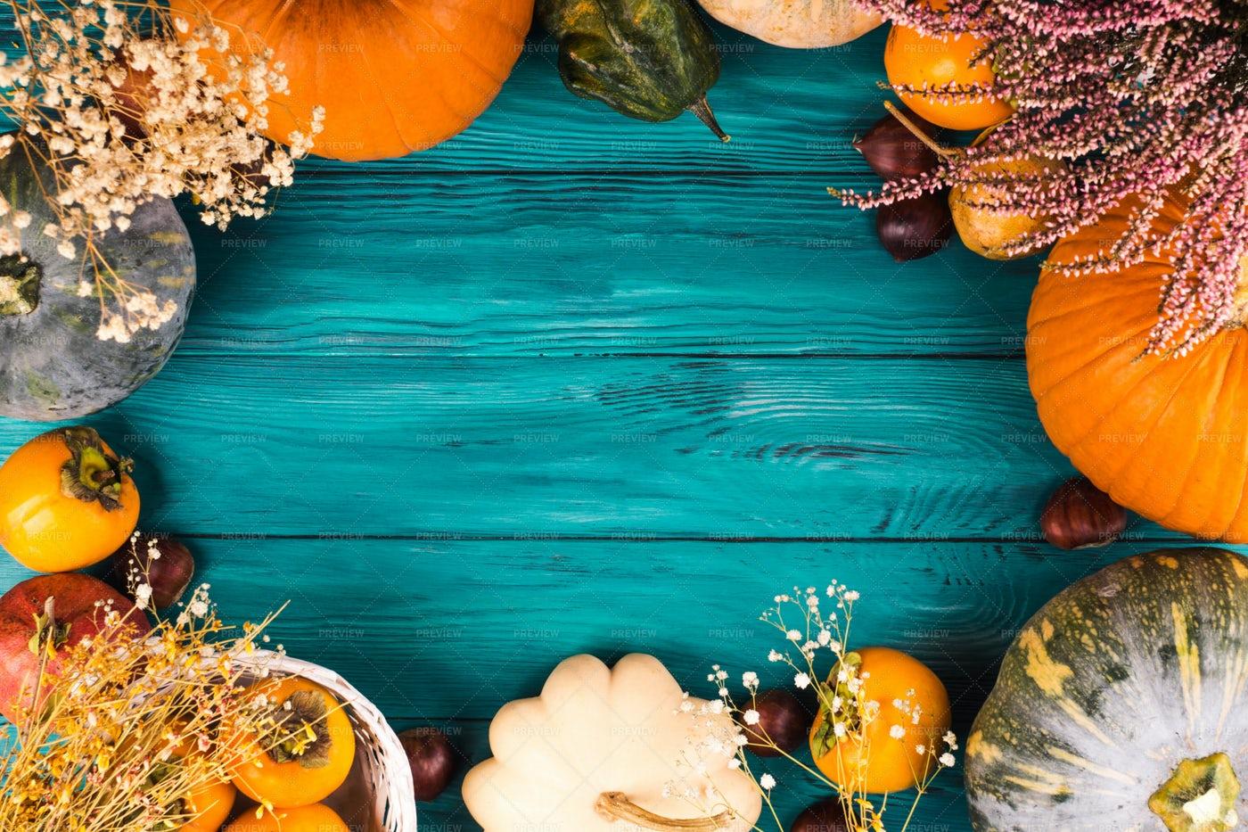 Autumn Thanksgiving Background: Stock Photos