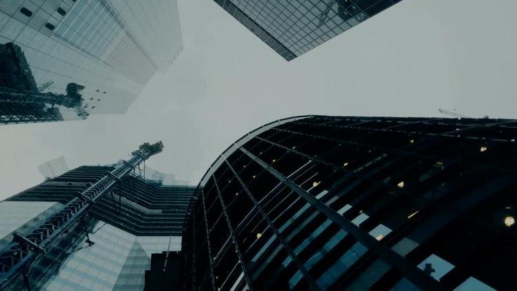 Skyscrapers In London, England, UK: Stock Video