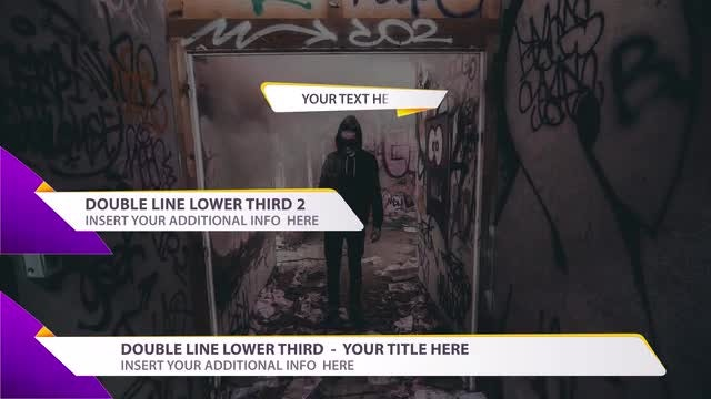 Modern Lower Thirds Package HD: Motion Graphics Templates