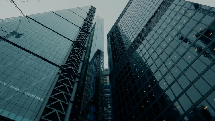 Skyscrapers In London's Financial District: Stock Video