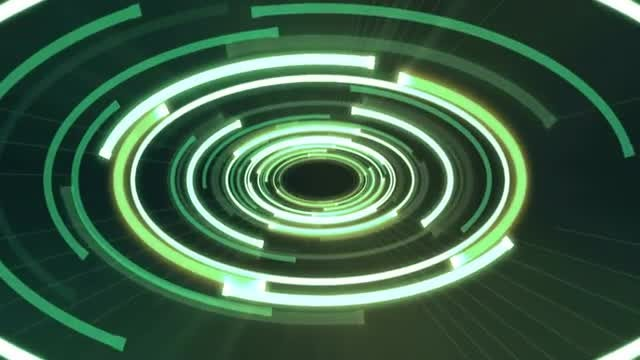Ellipse Neon VJ Light Background: Stock Motion Graphics