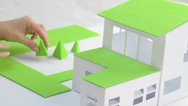 Model Of A Green House : Stock Video