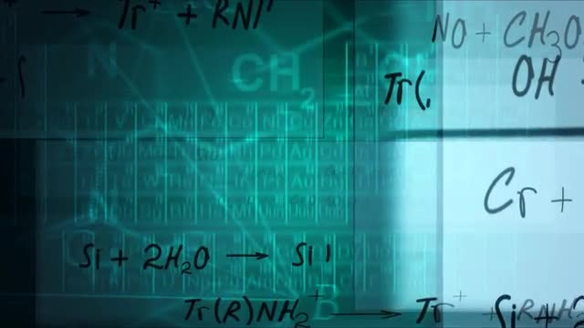 Chemical Formula Background: Stock Motion Graphics