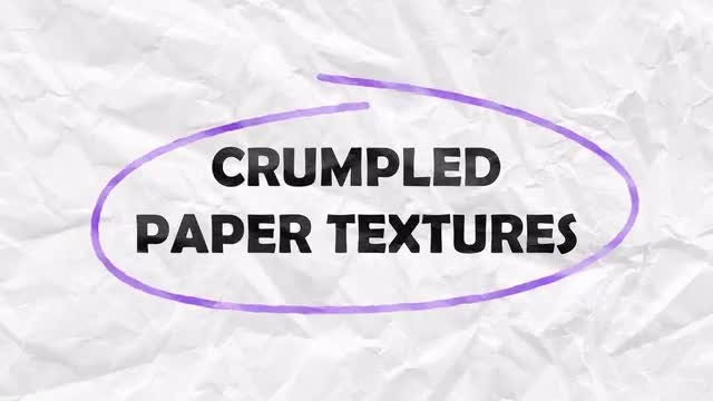 Crumpled Paper Textures Overlay Pack: Stock Motion Graphics