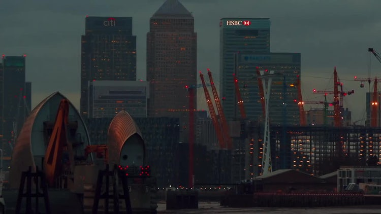 Financial District In London : Stock Video