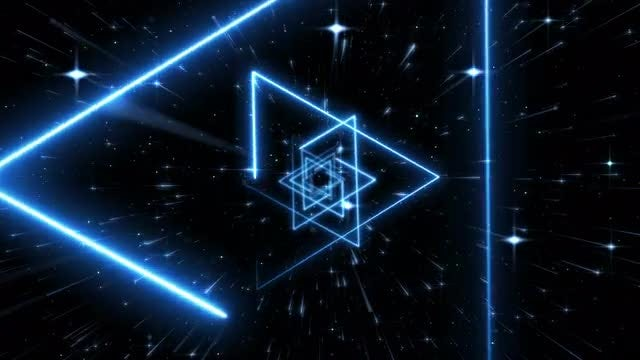 Blue Hexagram VJ Light Background: Stock Motion Graphics