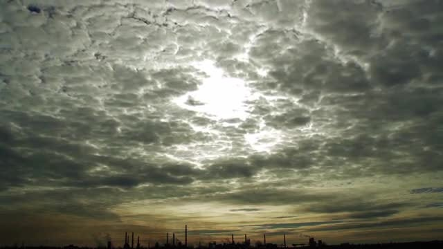 Large Altocumulus Clouds Moving Slowly: Stock Video