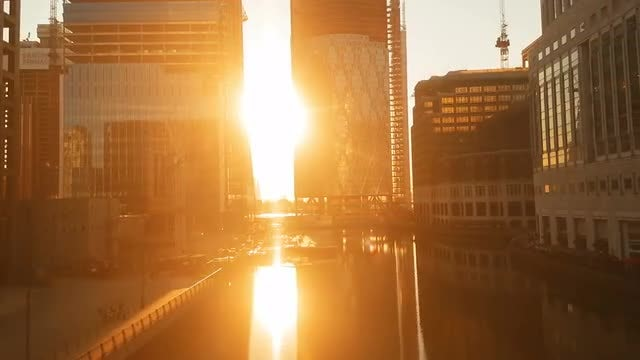 Docklands District London, UK: Stock Video