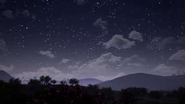 The Valley At Night: Stock Motion Graphics