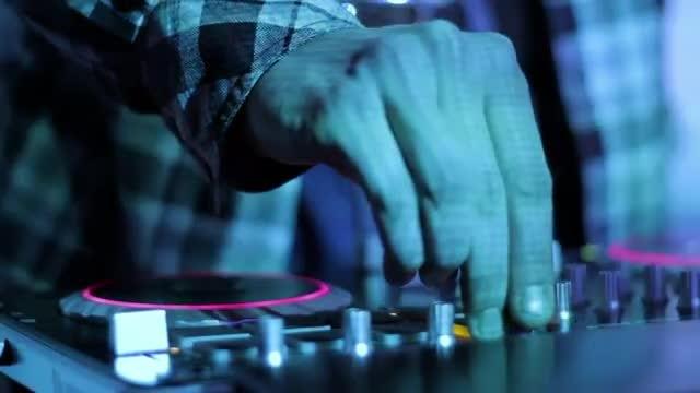Closeup Of Mixing Music : Stock Video