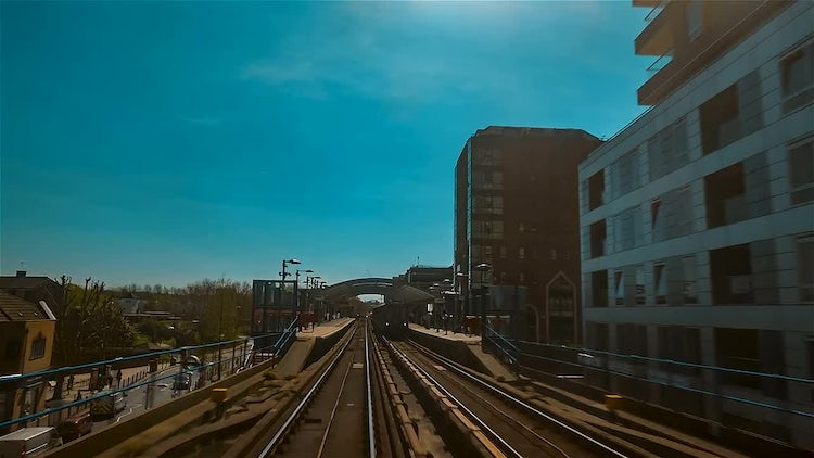 Traveling On The DLR Train : Stock Video