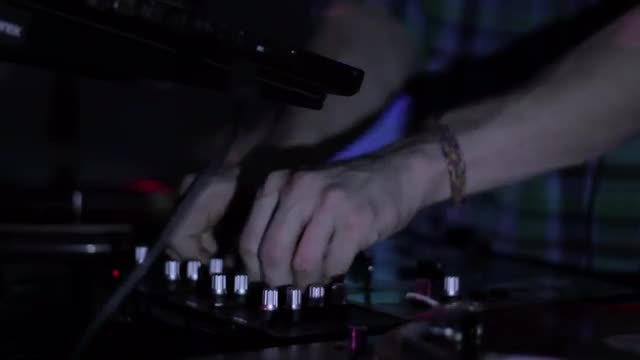 DJ Mixing Music With Console : Stock Video
