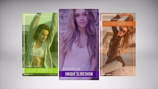 Social Stories Unique Slideshow: After Effects Templates