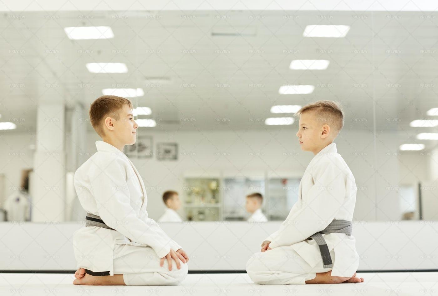 Greeting Before Karate: Stock Photos