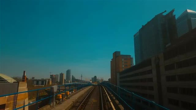 DLR Train Passing Through London: Stock Video